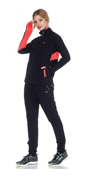 Fila Conjunto Training Mujer Fast Il Negro - Rosa