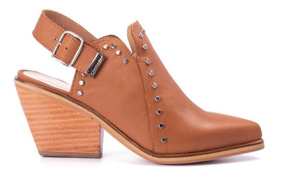 Zapatos Gravagna Mujer Zuecos Charritos Texanos Cuero Vacuno