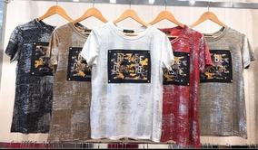 Kit 6 Blusas T-shirt Brilho Importadas