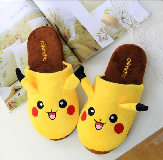 Pantufa Chinelo Pikachu Vários Tamanhos Pokemon Go Novo