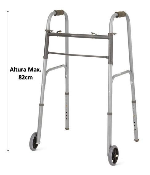 Andadera Ortopédica Con Ruedas Plegabe Medline Aluminio