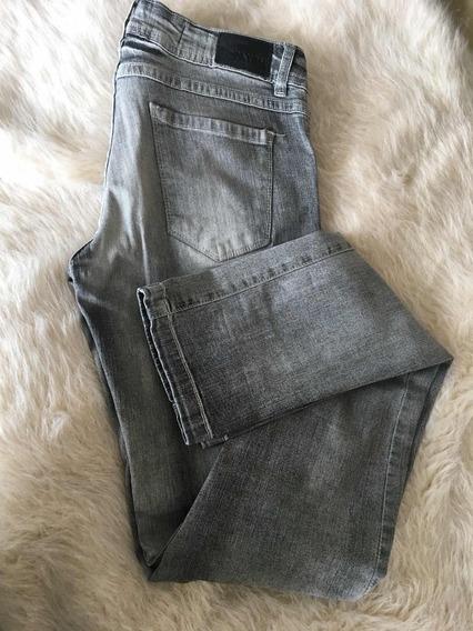 Pantalon Jean Gris Mujer Elastizado Chupin Crayon