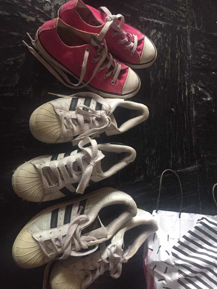 Lote Zapatillas adidas Superstar , All Star Converse Y 47 St
