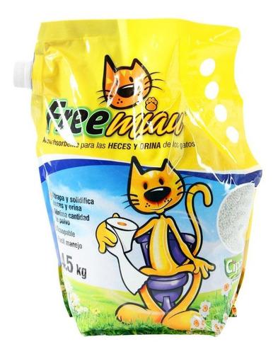 Imagen 1 de 2 de Arena Para Gatos Free Miau 4.5 Kg
