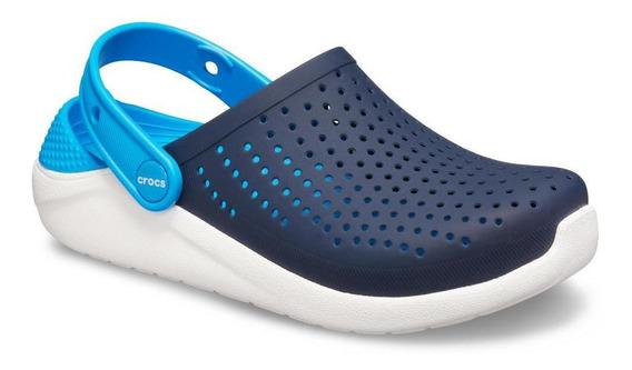 Crocs Literide Kids Azul/branco