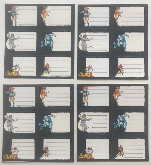 4 Planchas De Etiquetas Thundercats 1985