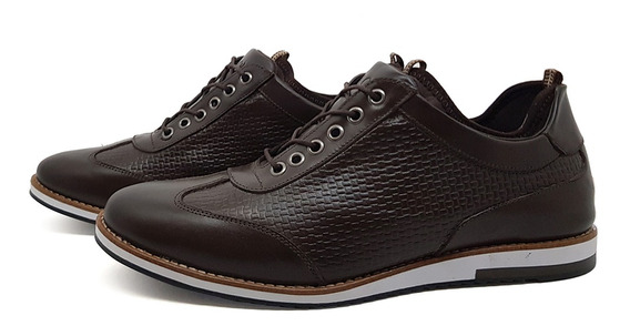 Sapato Casual Couro Avalon Megane Café