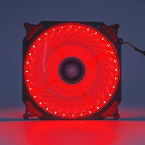 Cooler Fan Pc Gamer 120mm Led Vermelho Ventoinha Dx-12h