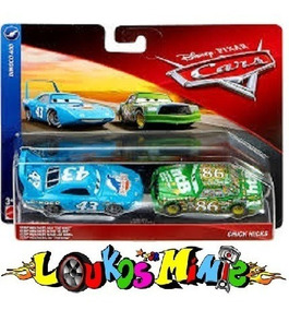 Disney Cars The King Rei & Chick Hicks Lacrado Orig. Mattel