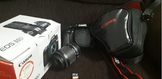 Câmera Canon Eos 80d + Lente 18-55mm