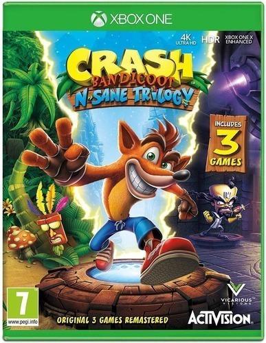 Crash Bandicoot N Sane Trilogy Xbox One Codigo 25 Digitos