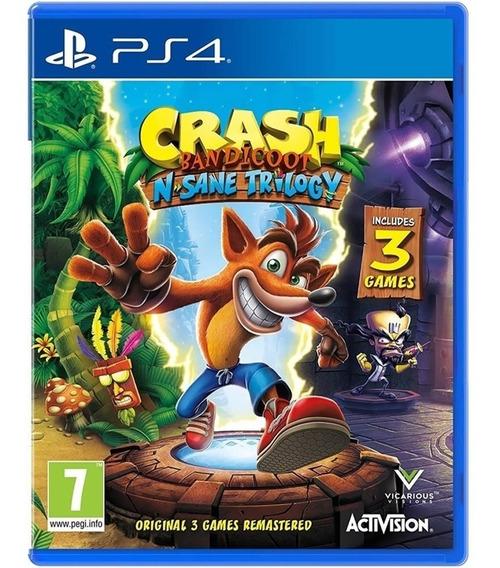 Crash Nsane Trilogy Ps4 Midia Fisica Novo Aventura Infantil
