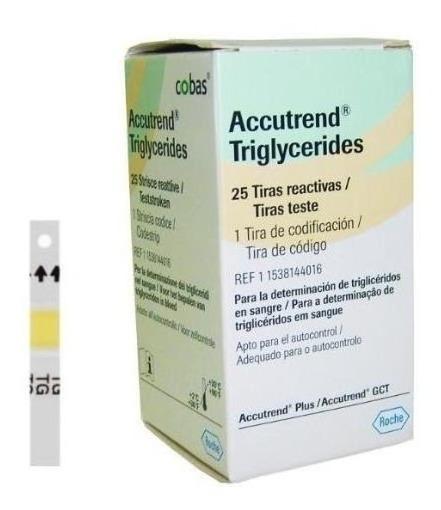 Tiras Reactivas Para Determinar Trigliceridos En Sangre C/25