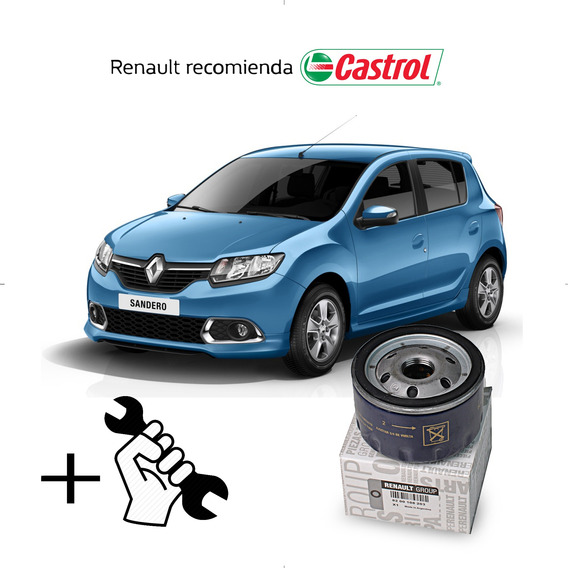 Cambio Filtro + Aceite Castrol 10w40 Renault Sandero 1.6 16v