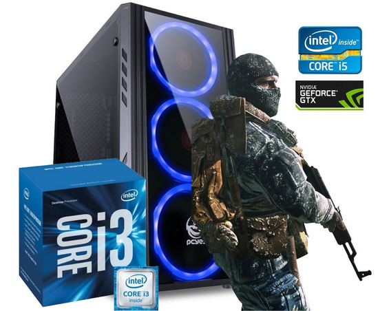 Pc Gamer Core I3 6100 + Rx 570 + 8 Gb Ddr4 + 1tb + 120 Ssd