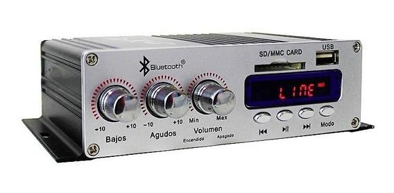 Amplificador Mini 4 Canales Bluetooth Usb Sd Fm 010-150