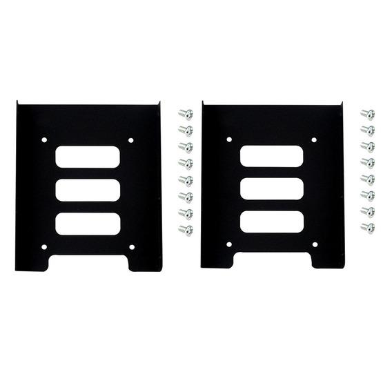 2 Pcs 2.5 Para 3.5 Ssd Hdd Adaptador Metal Doca Caso Cadd