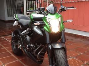 Moto Naked Kawasaki Er6n 650 Abs 2014 Verde Fosco Unico Dono