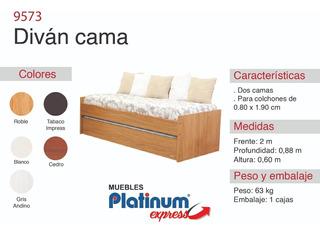 Diván Cama - Envio Sin Cargo Al Gran Mza