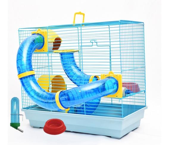 Gaiola Hamster 3 Andares Montada Completa C Bebedouro Brinde