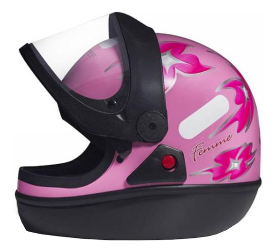 Capacete para moto integral San Marino Femme rosa tamanho 56