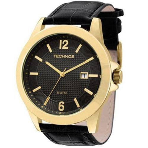 Relógio Masculino Preto E Dourado 2115kno/2p Technos