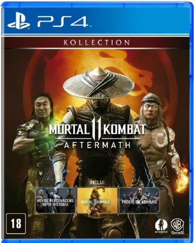 Mortal Kombat 11 Aftermath Kollection Ps4 Mídia Física Novo