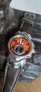 Relógio Oakley Judge Cooper Dial Pulseira De Couro