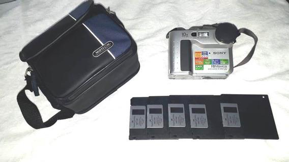 Máquina Fotográfica Sony Mavica Fd75, Carregador,bateria