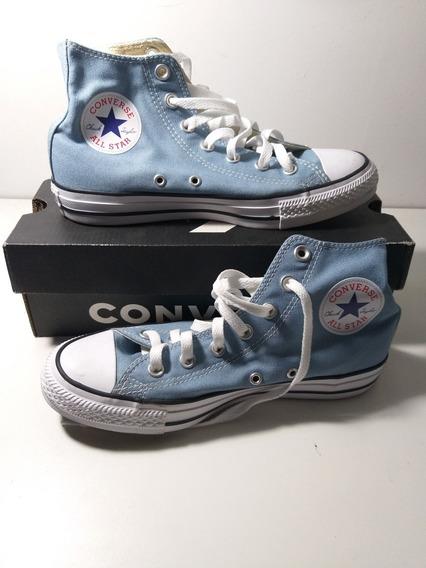 All Star Azul Claro Importado Na Caixa Original