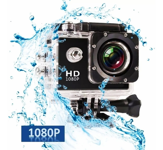 Câmera Action Go Pro Ultra Hd 4k Sports Wifi 30m+ Bateria