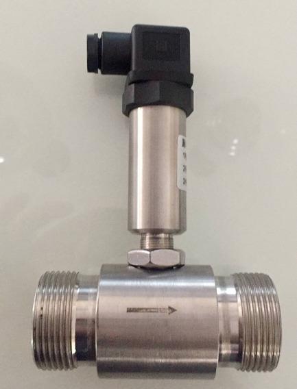 Kit Medidor Sensor Fluxo Vazão Aço Inox Dn25mm+ Controlador
