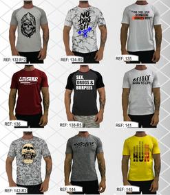 Kit 4 Camiseta Masculina Academia T-shirt Camisetas Caveira