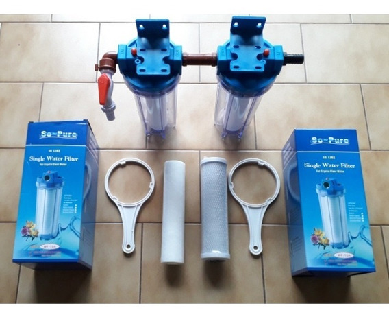 Filtro Purificador Agua Elimina Gusto A Cloro Y Partículas