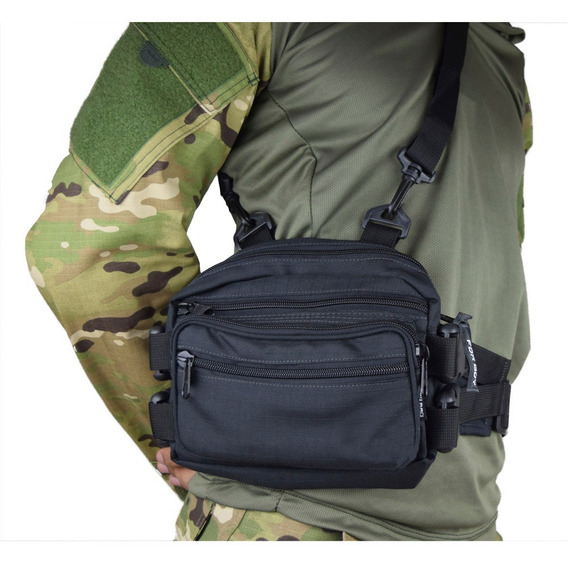 Bolsa Cintura Tatica Militar Masculina Camuflada E Lisa