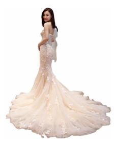 Vestido De Novia Sirena Todo Los Talles(directo China)#588