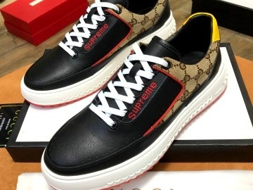 Zapatos Gucci Supreme Negros
