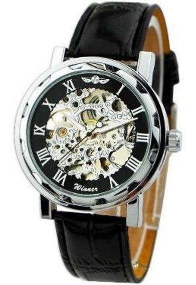 Relógio Importado Winner Skeleton Mecânico Super Oferta.