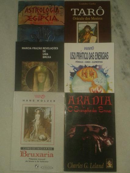 Aradia, Bruxas, Wicca ( Lote Com 6 Livros De Magia )