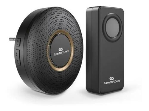 Campainha Wireless Sem Fio Preto Bivolt Comfort Door 100mts