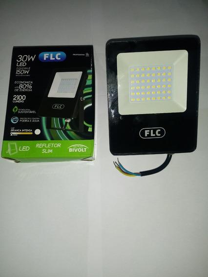Refletor Led Holofote 30w Biv Ip65 Branco Frio Flc