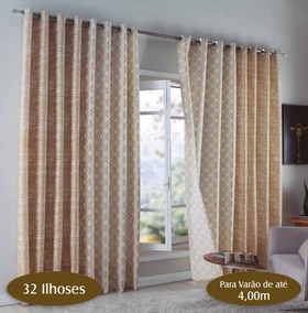 Cortina Sala Quarto Equador Sultan Bege 4,00 *2,50