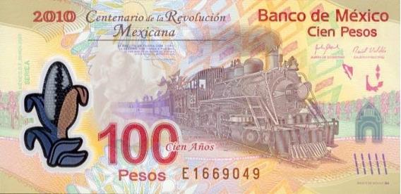 Billete 100 Pesos Mexicanos Con Error De Impresion Serie A