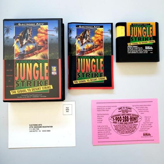 Jungle Strike Original Mega Drive Sega Genesis
