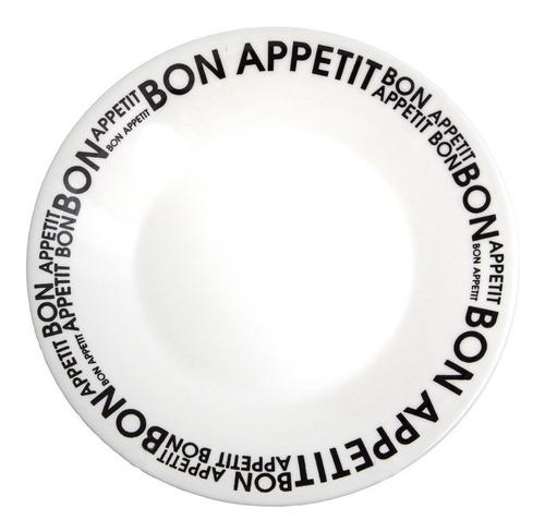 Plato Postre Biona Bon Appetit 19 Cm Decorado / X 6 Unidades