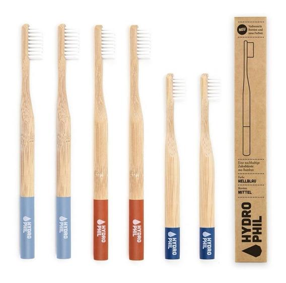 6 Cepillos De Dientes Bambú