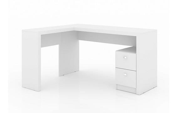 Mesa P/escritório Tecno Mobili Me-4129 Canto Branco