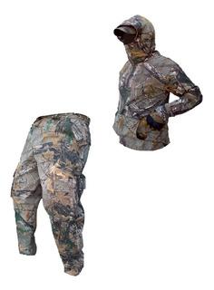 Set Pantalon Y Sudadera Camuflaje Caceria Profesional Caza
