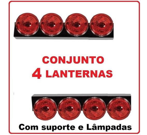 4 Marias Caminhão Carreta Truck Suporte Lampada 24v 12v
