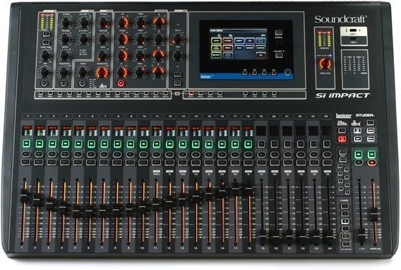 Mesa De Som Digital Si Impact Soundcraft 32 Canais